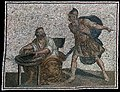 Archimedes before his death with the Roman soldier, Roman mosaic.jpg