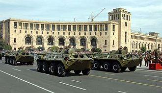 International rankings of Armenia - Armenian Army BTR-80s