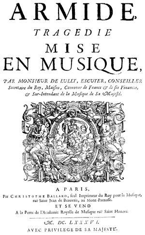 Armide (Lully) - Armide (title page)