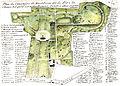 Arnaud - Recueil de tombeaux des quatre cimetières de Paris - Plan (colored).jpg