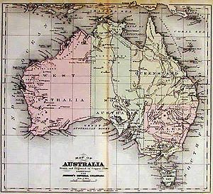 Arnold Henry Guyot - Australia map compiled by Arnold Henry Guyot and Frederick Augustus Porter Barnard