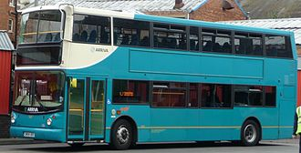 Double-decker bus - An Arriva Volvo B7TL in the UK