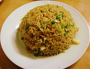 Arroz chaufa simple