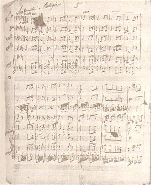 Arshak II (opera) - A page from the opera's score.