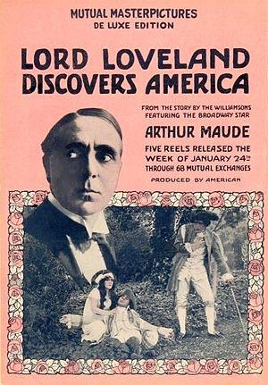 Arthur Maude - Poster from 1916 silent film starring Arthur Maude