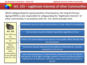 Article 153 of the Constitution of Malaysia