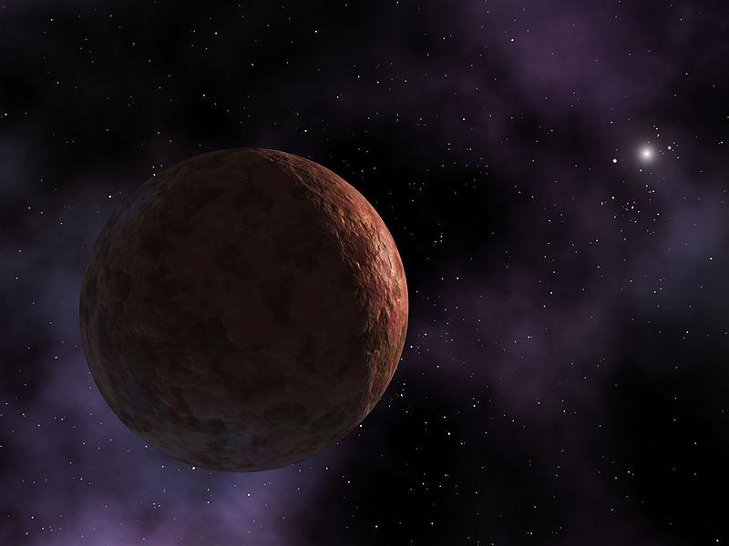 Sedna, un objet rouge et glacé, est à peine éclairé par le Soleil