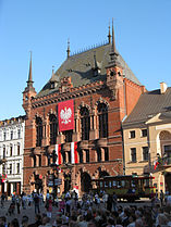 Artus Court in Torun in National Day decoration.jpg