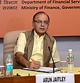 Arun Jaitley holding the Quarterly Performance Review Meeting of the Chairman and Managing DirectorsCEOs of Public Sector Banks (PSBs) and Financial Institutions, in New Delhi.jpg
