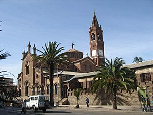 Italian diaspora - Church of Our Lady of the Rosary in Asmara, built by Italian Eritreans in 1923.