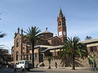 Religion in Eritrea - The Church of Our Lady of the Rosary, Asmara.