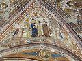 Assisi, santa chiara, interno, maestro espressionista di santa Chiara, volta con sante maria e chiara.JPG
