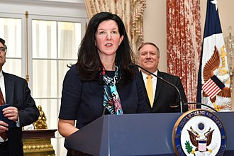 Assistant Secretary of State for Western Hemisphere Affairs - Image: Assistant Secretary Breier Delivers Remarks at her Swearing in Ceremony (44857266935)