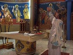 At altar