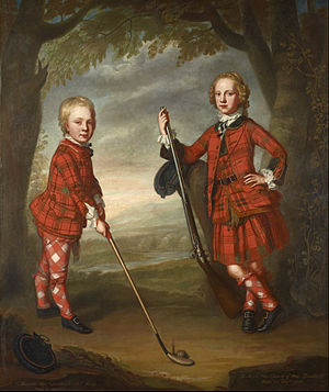 Childhood in early modern Scotland - James (1741–65) and Alexander Macdonald (1744–1810) in a painting attributed to William Mosman