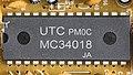 Audioline TEL 38 SMS - main printed circuits board - UTC MC34018-92371.jpg