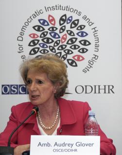Audrey Glover British international lawyer, election observer, DBE