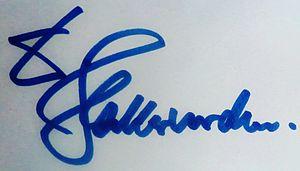 Dieter Hallervorden - Image: Autogramm Dieter Hallervorden