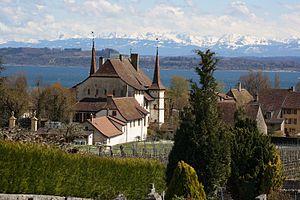 Auvernier - Auvernier village on Lake Neuchatel
