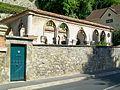 Auvers-sur-Oise (95), Chaponval, demeure 72 rue de Pontoise, cloître fin XIIIe s. des Pyrénées monte ici en 1924.jpg