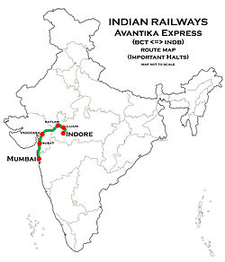 Avantika Express Route map.jpg