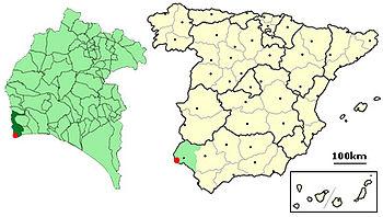 Ayamonte Spain - location