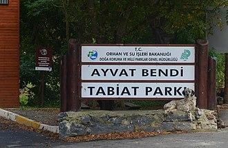 Ayvat Bendi Nature Park - Image: Ayvat Bendi Nature Park