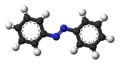 Ball-and-stick model of azobenzene
