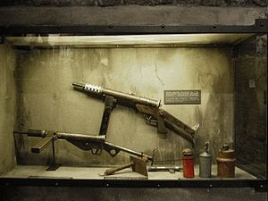 Warsaw Uprising - Weapons used by the resistance, including the Błyskawica submachine gun—one of very few weapons designed and mass-produced covertly in occupied Europe.