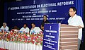 B.K. Handique addressing at the inauguration of 7th Regional Consultation on Electoral Reforms, organised by the Ministry of Law & Justice and the Election Commission of India.jpg