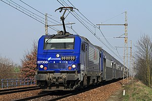 SNCF Class BB 27300 - SNCF locomotive BB 27308 arriving at Rambouillet