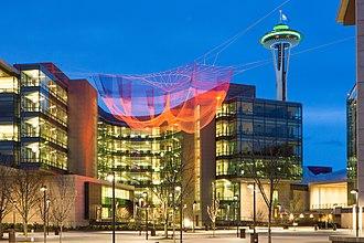 Janet Echelman - Impatient Optimist in Seattle, 2015