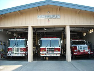 Fire department - A fire department's station and engines, in Bennett Valley, California