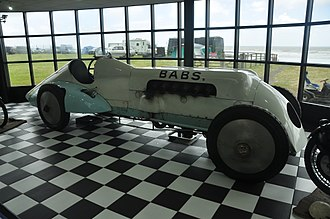 Pendine Sands - Babs in Pendine Museum of Speed