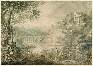 Johann Sebastian Bach (painter) - Image: Bach Idyllische Landschaft 1776