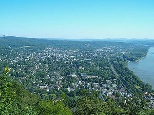 Bad Honnef - Bad Honnef seen from the Drachenfels