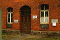 Bahnausbesserungswerk Gebäude 56 Eingang Leinhausen Park DB BSW.jpg