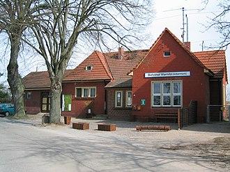 Angermünde–Stralsund railway - Warnitz (Uckermark) station building