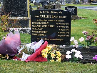 Bain family murders - Memorial to the Cullen Bain family in Mosgiel