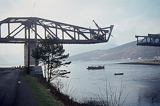 1975 British Mount Everest Southwest Face expedition - Original Ballachulish Bridge in Scotland, March 1975
