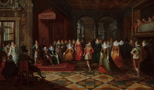 Ballroom Scene at a Court in Brussels Mauritshuis 244