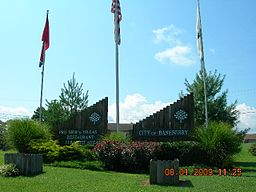 Baneberry welcome sign 2009.jpg