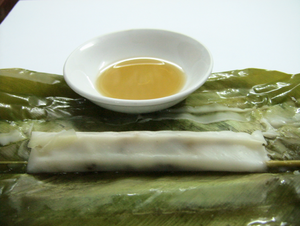Bánh tẻ - Bánh tẻ that have been unwrapped
