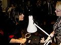 Barbara Follett, MP looks at the roundel (2).jpg