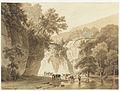 Barend Cornelis Koekkoek - Rotsachtig landschap met drinkende koeien.jpg
