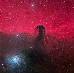 The Entire Neighborhood Of Nebula Reflection NGC 2023 Is In Bottom Left Corner And Itself Near Center Shape