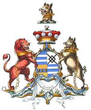 George Venables-Vernon, 5th Baron Vernon - Image: Baron Vernon coa