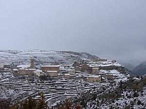 Español: nieve Español: nieve nubes temporal p...