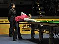 Barry Hawkins and Michaela Tabb at Snooker German Masters (DerHexer) 2013-02-02 3.jpg