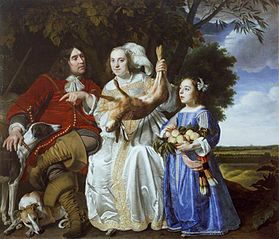 Family Portrait of Jochem van Aras with His Wife and Daughter